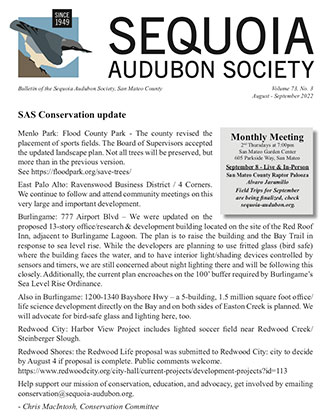 Sequoia Audubon Society Newsletter